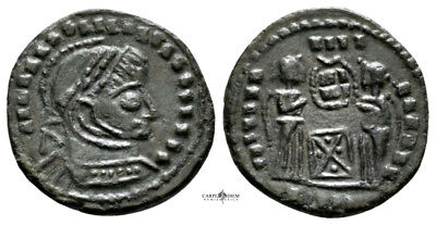 CONSTANTINE THE GREAT (320 AD) Barbaric Follis #QP 10355
