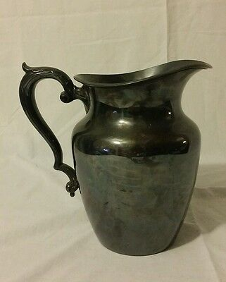 Antique Wallace Bros Silver CO Silverplate Water Pitcher 995