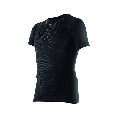 Dainese D-Core Thermo Mens Short Sleeve Base Layer Shirt Top Black/Anthracite