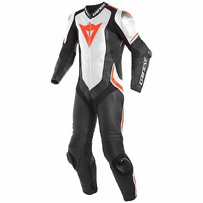 Dainese Laguna Seca 4 Perforated 1-Piece Suit Black/White/Fluo Red