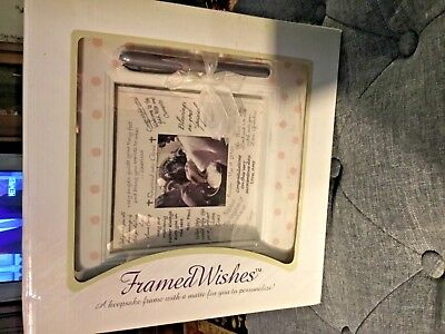 A Keepsake Frame W/ Silver Pen & Matte To Personalize Of Family And Friends!