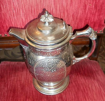 Mermod Jaccard St Louis Silver Plated Designed Insulated Ice Water Pitcher. 1854