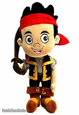 Disney Store Authentic Jake and the Never Land Pirates Plush Doll Toy with Sword