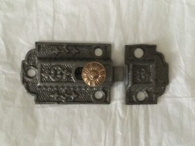 Antique Cast Iron 1880's Victorian Latch With Brass Knob/Works