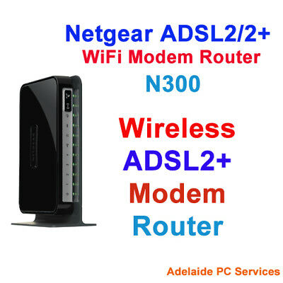 NBN ADSL2+ ADSL2 Modem Router WiFi WLAN USB DSL Netgear DGN2200 Wireless N300