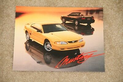 ~ Vintage 1994 Ford Mustang Sales Brochure Flyer Specifications Sheet 2 Sided ~