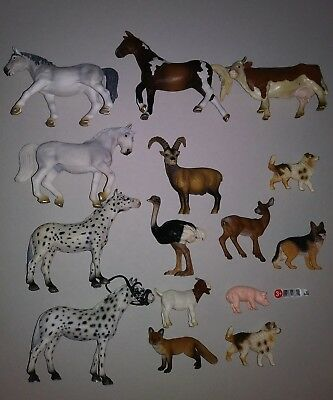 Mixed Lot of 15 Schleich Toy Animal figures