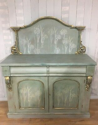 Chiffonier Sideboard - Duck egg blue and green