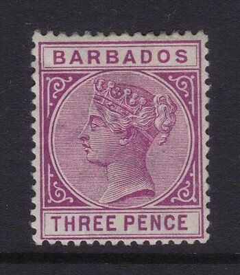 Barbados Sg 95; 3d Purple Wmk Crown CC,Mint.cv £120