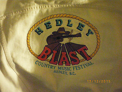vintage hedley blast jean jacket country music festival hedley bc canada rare