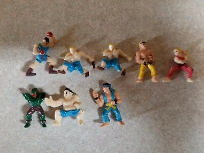Street Fighter Rubber Figure US Vending Machine Toy Lot 1990's