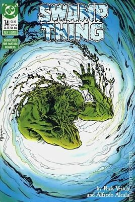 Swamp Thing (2nd Series) #74 1988 FN Stock Image
