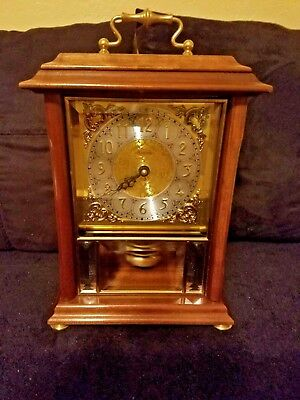 Ansonia Gold Medallion Pendulum Model 2270C Mantel Clock Westminister Chime