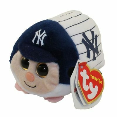 "Ty Beanie Boos 4"" Teeny Tys MLB NEW YORK YANKEES Stackable Plush MWMT's 2018"