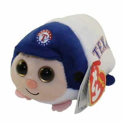 "Ty Beanie Boos 4"" Teeny Tys MLB TEXAS RANGERS Stackable Plush MWMT's Heart Tags"