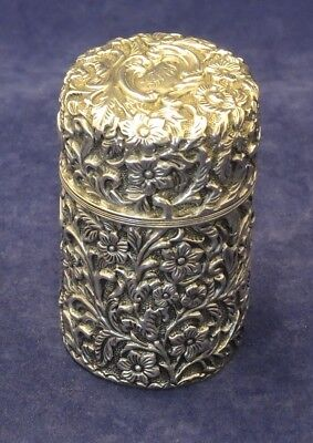Antique Repousse Silver Smelling Salts Bottle H/m 1900 Retailed Hardy Bro Sydney