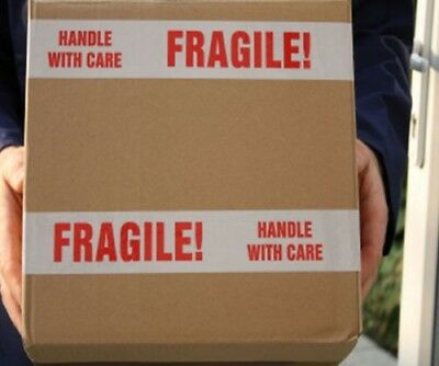 """216 Rolls Fragile Marking Tape Printed Box Shipping Packing 3"""" Tape 2 mil 110 Yd"""