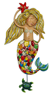 Dramatic Extra Large SIRENA MERMAID Designer Wall Clock by Allen Designs