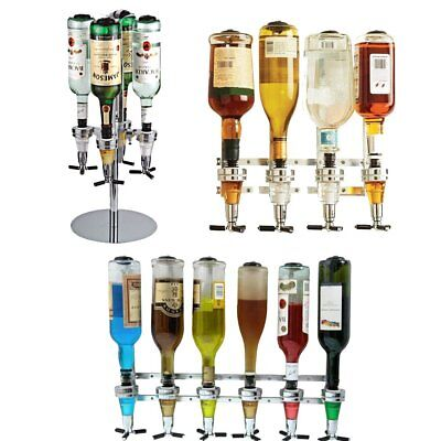 Rotary Wall Mount Bottle Stand Drinks Optics Dispenser Wine Spirits Bar Butler