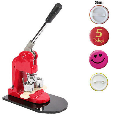 Pin Button Maker Round Badge DIY Making Machine for 1.25''(32mm) Badges.