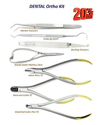 Orthodontic Hard Wire,Distal End Cutter Plier,Adam,Prob 23/17,Meriam Set of 7 CE