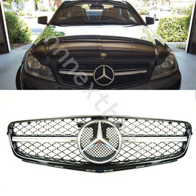 AMG Style grille Grill For Mercedes Benz W204 2012 2013 C300 C350 C280 C230