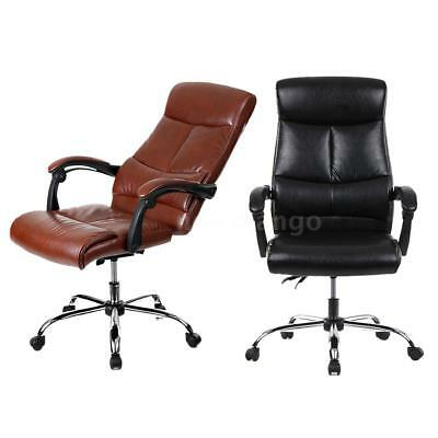 PU Leather Executive Computer Office Chair 90-170°Recliner Home Office S0B5
