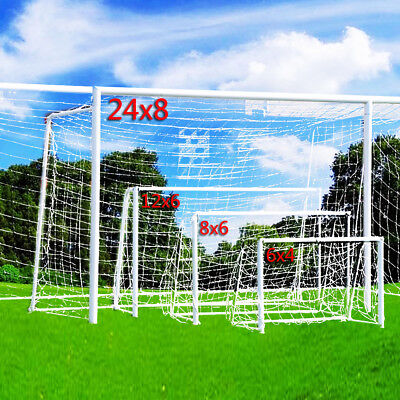 4 Sizes Football Soccer Goal Post Nets For Sports Training Match Replace UK