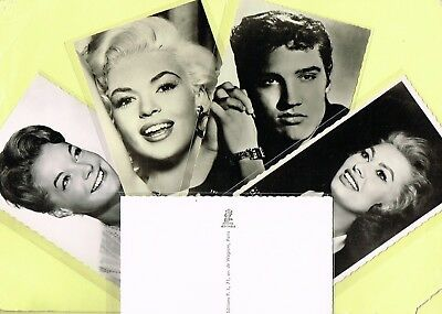 EDITIONS PI - 1950s/1960s Film Star Postcards Issued in France #650 to #990