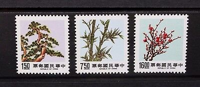CHINA TAIWAN 1988 Trees Pine, Bamboo, Plum (3rd Series). Set of 3. MNH SG1783/85