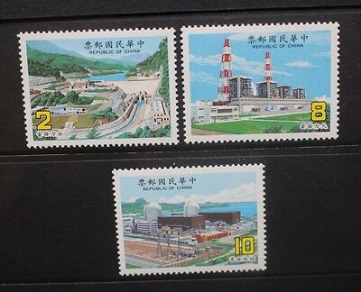 CHINA TAIWAN 1986 Power Stations. Set of 3. Mint Never Hinged. SG1655/1657.