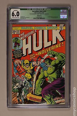 Incredible Hulk (1st Series) #181 1974 CGC 6.0 QUALIFIED 0291973016