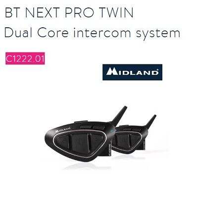 Coppia interfono Bluetooth MIDLAND BT NEXT PRO casco moto universale C1222.01