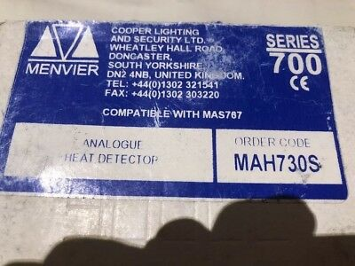 Menvier MAH 730S Analogue Heat Detector MAH730S Only £29.99