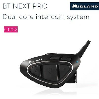 Interfono Bluetooth MIDLAND BT NEXT PRO casco moto universale C1222