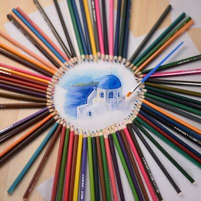 72 Color Pre-Sharpened Colored Pencil Set Art Drawing Pencils Water-soluble Y3M4