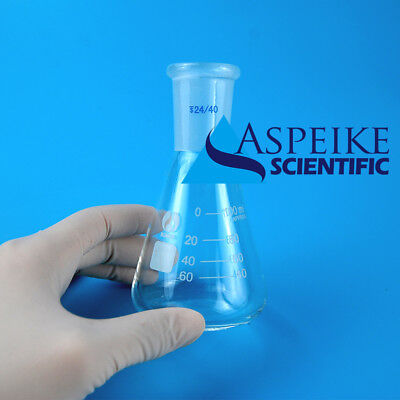 100ml,24/40,Glass Erlenmeyer Flask,Lab Conical Bottle,Round Chemistry Glassware