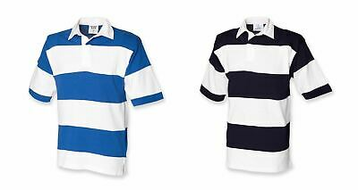 f18aa957bcf NEW MENS FRONT Row Quartered Rugby Shirt. Navy/Purple S. E - £6.45 ...