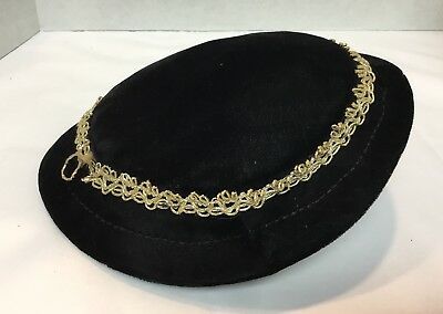 Vintage Child's Hat With Gold Trim Girl's Church Dress Hat