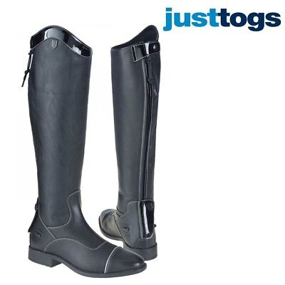 Long black leather competition boot / riding boot / BNWT / comfort soft leather