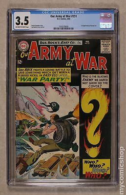 Our Army at War #151 1965 CGC 3.5 1555578009