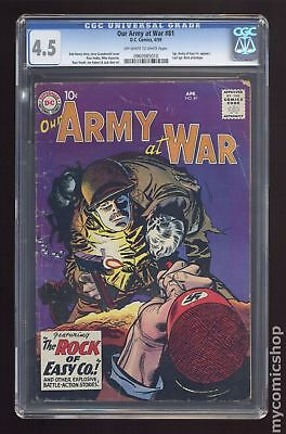 Our Army at War #81 1959 CGC 4.5 0960985010