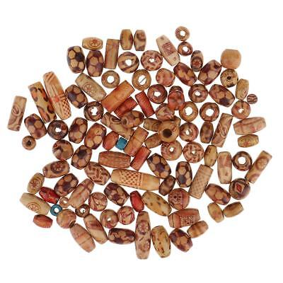 200pcs Mixed Wooden Beads for Macrame Jewelry Pendant Crafts Making Findings