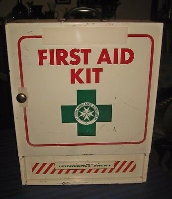 A Large Steel First Aid Cabinet : Wall Mounting