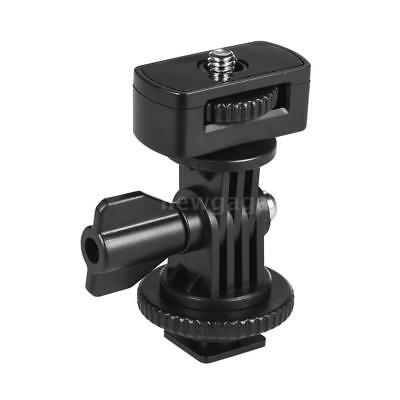 "Universal Hot Shoe Mount Adapter + 1/4"" Screw for Light Video Monitor NEW E4Y0"