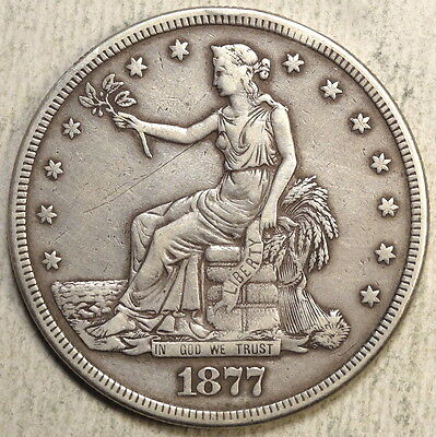 1877-S Trade Dollar, Very Fine - Discounted Type Coin   0806-02