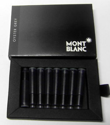 Montblanc Oyster Grey Fountain Pen Ink Cartridges 8  New In Box 105187