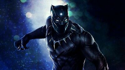 """Black Panther Movie- 42"""" x 24"""" LARGE WALL POSTER PRINT NEW."""