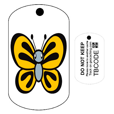 Butterfly (Travel Bug) For Geocaching - Trackable Tag - Unactivated