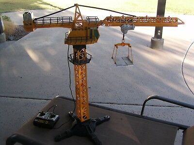 Vintage  New Bright Tower Crane....works Perfectly